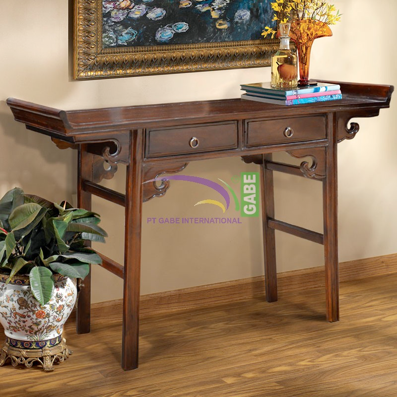 Console Chinese Style 2 Drawers Home Furniture Store With Best Teak Patio Furniture