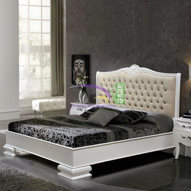 BED ANNA FRANCE STYLE WHITE COLOR